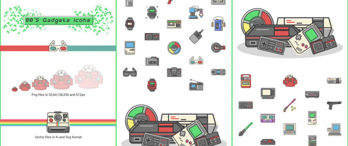 80s-gadgets-40-free-icons