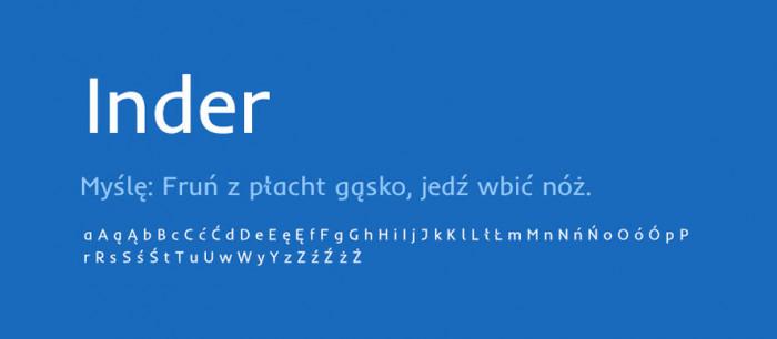 05 Inder Darmowe fonty z polskimi znakami
