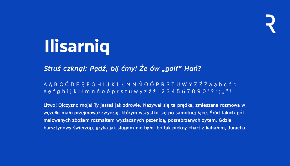 Darmowy font z polskimi znakami