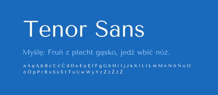 10 Tenor Sans Darmowe fonty z polskimi znakami