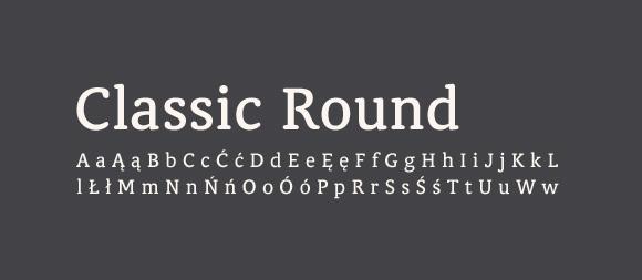 07 Darmowe fonty z polskimi znakami Classic Round