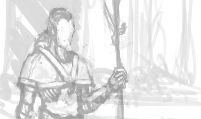 01 Rysujemy sredniowieczna postac - szkic