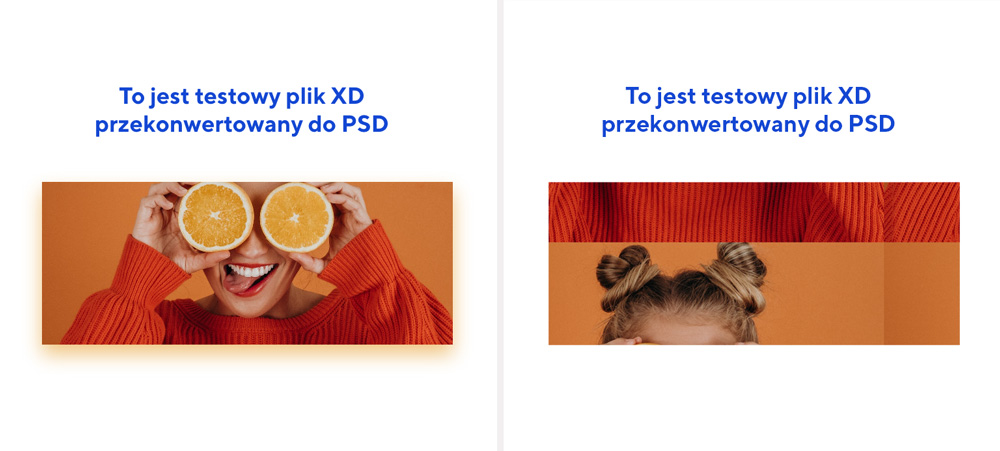 Plik XD przekonwertowany do PSD