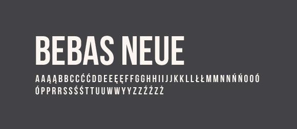 06 Darmowe fonty z polskimi znakami Bebas Neue
