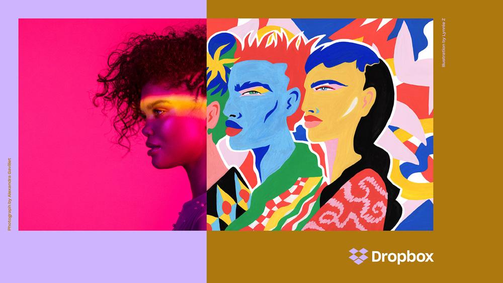 Rebranding Dropbox z 2017 roku