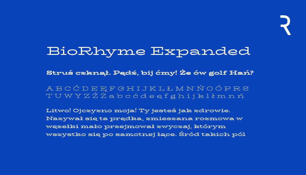 BioRythme Expanded darmowy font