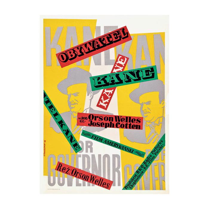 Plakat 3: Henryk Tomaszewski, Plakat do filmu Obywatel Kane, 1948