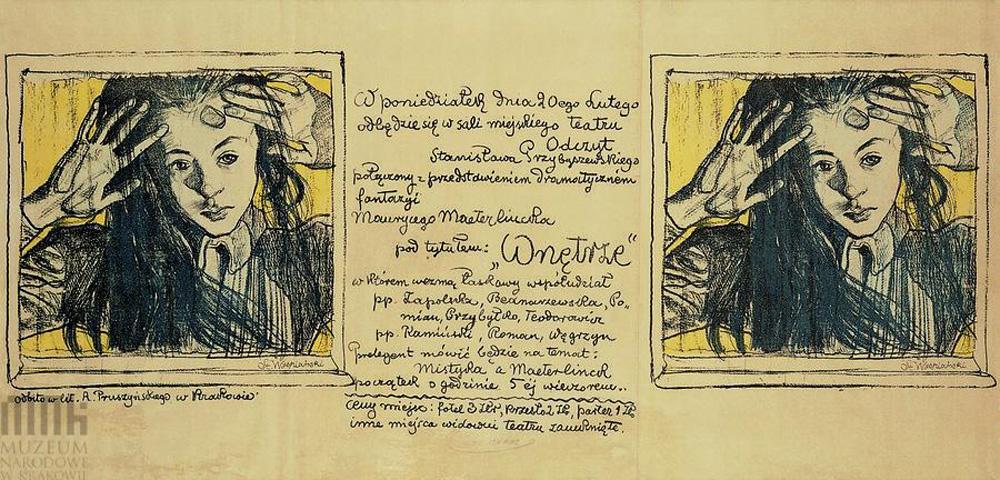 """Plakat Stanisława Wyspiańskiego """"Wnętrze"""""""