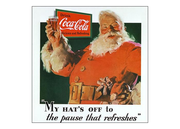Pierwsza reklama ze Świętym Mikołajem