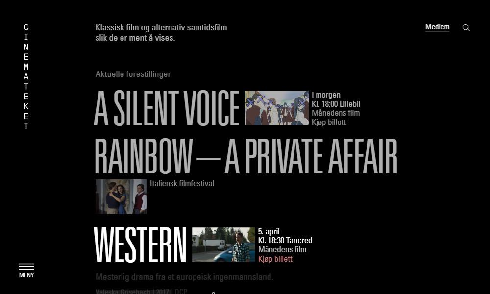 Inspirujące strony internetowe - Cinematect