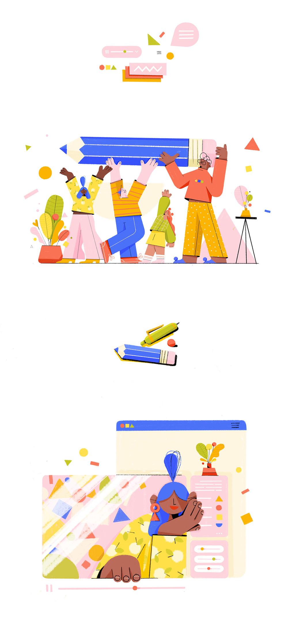Web illustration, Ola Dobrzyńska
